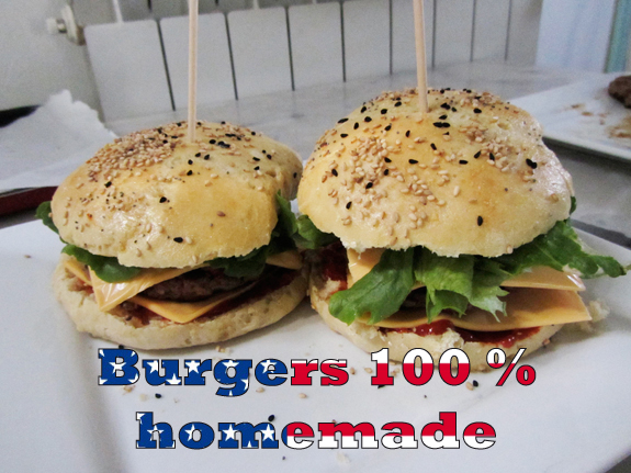 Burgers homemade