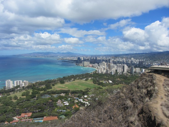 Honolulu, vue de « Diamond Head »